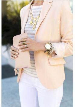 White Pants - 44 Professional and Sophisticated Office Outfits You Will Love ...
