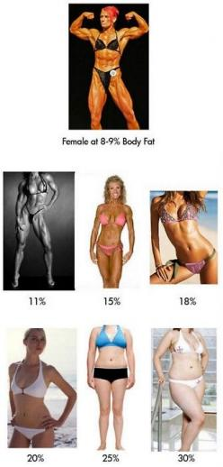 Based on these pics, I think between 18 and 20% body fat is where I want to be.: Body Fat, Female Bodies, Bodyfat, Weight Loss, Fitness, Motivation, Healthy, Fat Percentages, Workout Pins