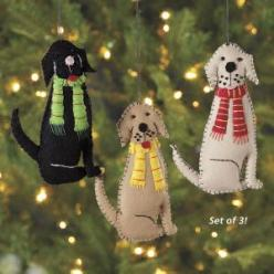 D12525X - Dog Beds, Dog Harnesses and Collars, Dog Clothes and Gifts for Dog Lovers | In The Company Of Dogs: Felt Dogs, Felt Dog Ornament, Dog Felt Ornament, Dog Harness, Christmas Dog, Ornaments Dog, Christmas Ornament