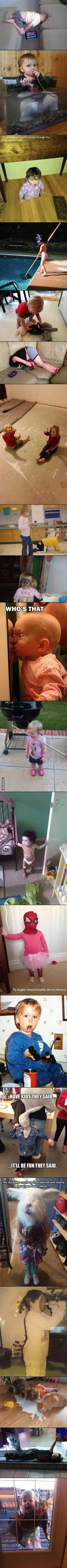 Kids are Creepy: Cat Face, Giggle, Funny Stuff, Funny Little Kids, So Funny