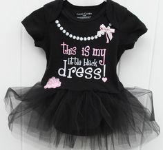 My little black dress onesie bodysuit
