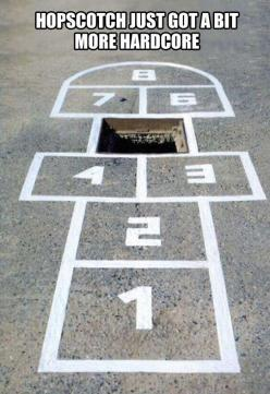 Oh 5. What ever happened to 5 said the other numbers.: Street Art, Play, Hopscotch, Funny Stuff, Humor, Things, Photo, Streetart