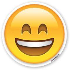 Smiling Face with Open Mouth and Smiling Eyes | Emoji Stickers: Open Mouth, Emojis Stickers, Eyes Emojistickers, Emojis Faces, Emoticon, Mouths, Emoji Stickers, Smiling Faces, Products