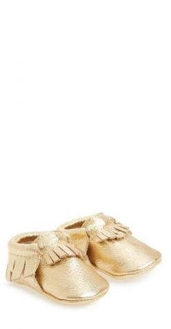 These baby metallic moccasins are just too cute!: Babies, Freshly Picked, Picked Metallic, Moccasin Baby, Baby Girl, Baby Walkers, Metallic Leather, Leather Moccasin