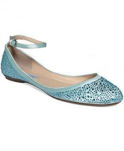 Blue by Betsey Johnson Joy Evening Flats - Evening & Bridal - Shoes - Macy's  WEDDING SHOES!