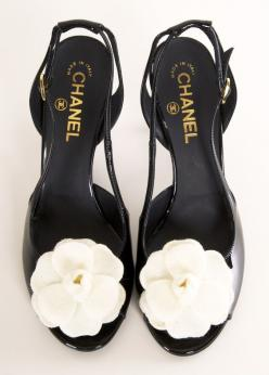 CHANEL HEELS @Michelle Flynn Flynn Flynn Flynn Flynn Flynn Coleman-HERS loving the white flowers  say it with me: #legallyredapproved