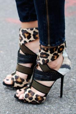 she is a high heel girl instead of a flat shoes girl.