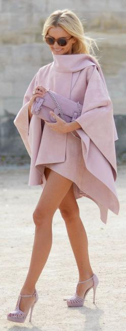 Street fashion. Shades Of Pink Chic Style