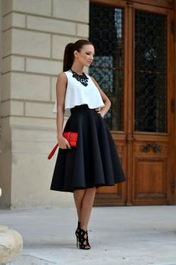 Super-Hot Date-Night Outfit Ideas – Fashion Style Magazine - Page 2: Date Night Outfit, Outfit Ideas, Fashion Style, Dress, Street Style, White Crop Top, Black And White Outfit