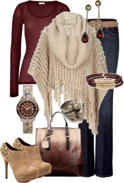 """""""Untitled #197"""" by alison-louis-ellis on Polyvore: Sweater, Style, Poncho, Winter Outfit, Fall Outfits, Fall Fashion, Closet, Fall Winter"""
