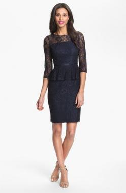 Adrianna Papell Peplum Lace Sheath Dress available at #Nordstrom. This one is a beautiful option for New year's, Weddings, and a night out: Nordstrom, Adrianna Papell, Lace Sheath Dress, Papell Peplum, Small Regular, Peplum Lace, Sheath Dresses