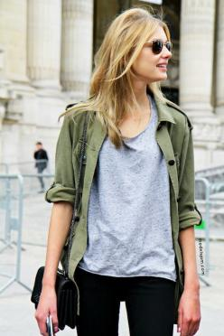 GET THE LOOKS: CAbi Spring '15 Olive Jacket www.janadebrower.cabionline.com: Army Green, Fashion, Street Style, Casual, Outfit, Fall Winter