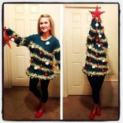 Great ugly sweater- homemade!: Holiday, Ugly Sweater, Ugly Christmas Sweater, Christmas Sweaters, Christmas Trees, Sweater Party, Christmas Party