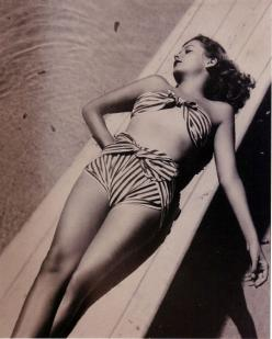 jane greer: Vintage Swimsuits, Summer, Vintage Swimwear, Jane Greer, Beach