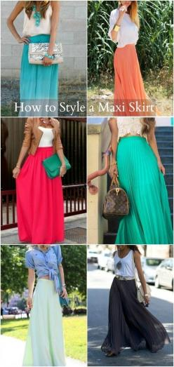 My Soul is the Sky: how to wear a maxi skirt by Summer child: Maxi Skirt Style, Maxi Dresses, Fashion, Long Skirts, Spring Summer, Maxi Skirt Outfit, Maxi Skirts