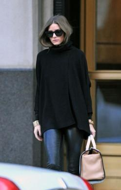 OP: Oliviapalermo, Fashion, Street Style, Outfit, Olivia Palermo, Leather Pants, Fall Winter