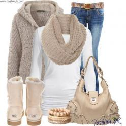 white, tan, blue, I have the boots and the sweater in black find more women fashion on www.misspool.com: Ugg Boots, Fashion, Style, Clothes, Winter Outfits, Fall Outfit, Winteroutfit, Fall Winter, Christmas Gift
