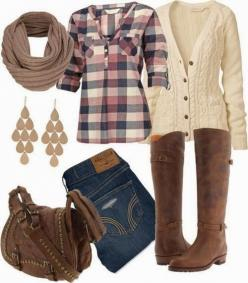 Adorable and cute winter fall outfits for women | Fashion and styles Minus the sweater. find more women fashion on http://www.misspool.com find more women fashion ideas on www.misspool.com