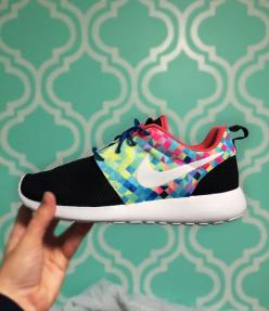 Custom Nike Roshe Run Prisma by SKLCustomShoes on Etsy More a casual shoe, but really cool looking