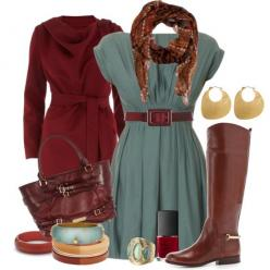 Enjoy... Wearing your summer dress into fall.  Add a rich color such as the brown/red family to unify the look.