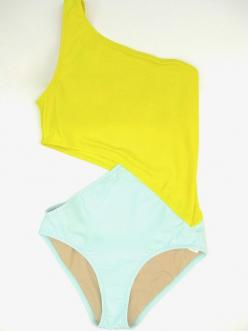Not much on the colors, but such a cute design cut..Elmar One Piece Swimsuit by Araks