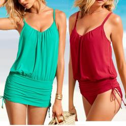 Sexy one-piece bathing suit women fashion swimsuit with red blue one piece woman swimsuit swimdresses A01255 US $16.89