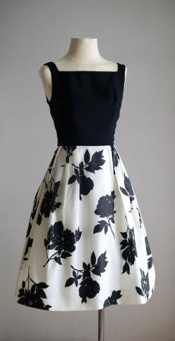 1950's Floral Taffeta Dress A possible role model for BHL Flora