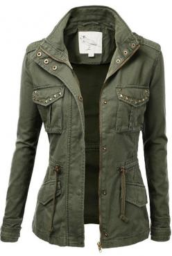 Adorable green military comfy and cozy jacket....check out ours... #shopdailychic