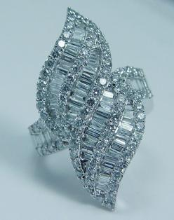 Estate Jewelry Showstopper 14K White Gold 3.5cts Diamond Ring |Pinned from PinTo for iPad|