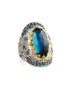London Blue Topaz Ring: London Blue Topaz, Blue Topaz Ring, Konstantino London, Style, Jewels, Jewelry Rings, Neiman Marcus, Bling Bling