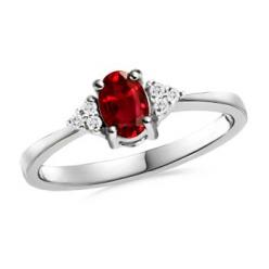 ruby ring, the exact same as my engagement ring in white gold