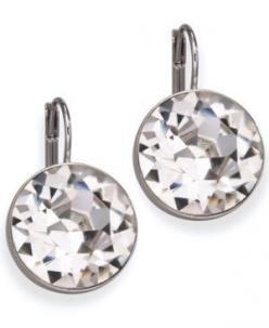 Swarovski drop earrings.. Have something that's sort of similar! :)