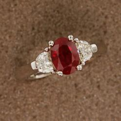 This ring!  The ruby gemstone represents love, passion, courage, and emotion. It also just happens to be my birthstone.