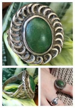 Turquoise, Ring, Sterling Silver, Art Nouveau, Arts & Crafts, Vintage – Yourgreatfinds