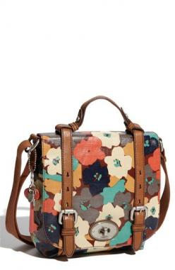 $128  Fossil 'Key-Per' Coated Canvas Shoulder Bag @ Nordstrom  Cute or ugly?  Want a crossbody bag with enough width to hold fat wallet and sunglasses, but slim as possible.: Fossil Bags, Shoulder Bags, Fashion, Canvas Shoulder, Fossil Handbags Ke