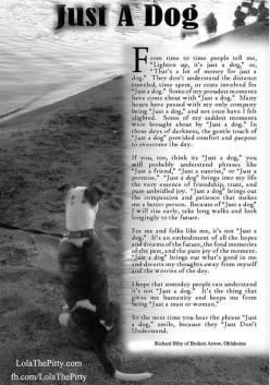 'Just a Dog' poem - so beautiful.  -Lola The Pitty-: Dogs, Pitbull, Pet, Dog Poem, Dog Quotes, Fur Babies, Animal