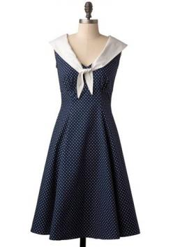 40's style dress: Sailor Dress, Fashion, Nautical Dress, Dresses, Clipper Dress, Sailors, Sailor Style