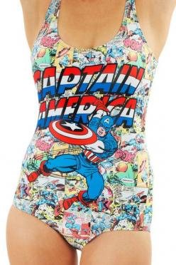 All my plans for a sophisticated swimsuit may have gone out the window....: Honeymoon, Superhero Swimsuits, Captain America Outfit, Window, Cothes3, Bathingsuits