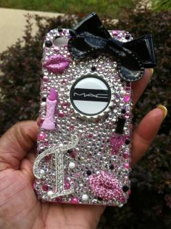 "Bling Cell Phone Case ""MAC"": Case Mac, Cell Phones Cases, Iphone Cases, Bling Phone Cases, Mac Phone Case, Cellphone Cases, Bling Cell Phone Cases, Chanel Phone Cases, Phone Cases Bling"
