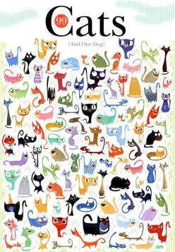 Cats (and one dog): Cats, Cat Art, Animals, Dogs, 99Cats, Illustration
