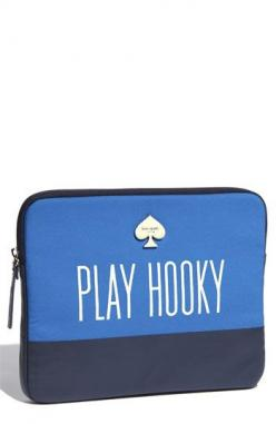 "If I had a ""play hooky"" laptop case I wouldn't use it as I would be too busy playing hooky!: Katespadeny Play, York Play, Neoprene Ipad, Ipad Case, Laptop Cases, Ipad Sleeve, Kate Spade Laptop Sleeve"