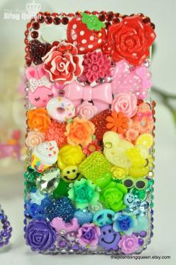 Iphone 4 Bling Decoden Phone Case/Cover by theposhblingqueen, $65.00: Iphone Cases, Iphone 4S, Bling Decoden, Decoden Phone, Phonecases, Theposhblingqueen 65, 65 00, Phones
