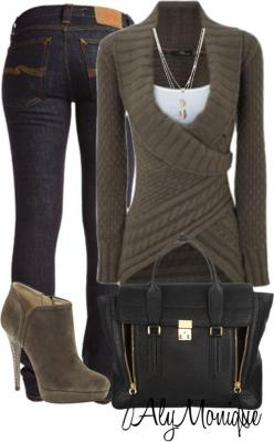 LOVE the sweater: Wrap Sweater, Style, Dream Closet, Cute Outfits, Fall Outfits, Winter Outfits, Fall Fashion, Fall Winter