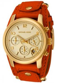 Michael Kors MK2157 Watches,Women's Chronograph Orange Leather, Women's Michael Kors Quartz Watches: Style, Mk Watche, Michael Kors Watch, Jewelry, Accessories, Watches, Michaelkors, Orange Leather