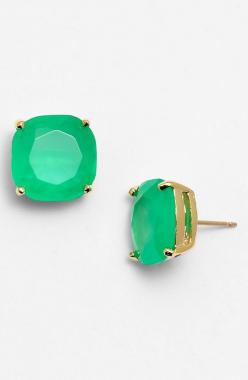 Such pretty green stud earrings for St. Patrick's Day   Kate Spade.: Studs, Earrings Nordstrom, York Small, Stud Earrings, New York, Kate Spade, Katespade