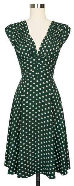 The favorite Trashy Diva 1940's Dress is back in the super fun Irish Polka print!: 1940S Style Dresses, 1940S Dresses, Polka Dots, Trashy Diva, Vintage Style Dresses, Irish Polka, 1940S Fashion Dresses, Polka Dot Dress, Irish Dress