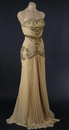 Vintage evening gown.... dot know what Id ever wear this for, but it is gorgeous.: Style, Dresses, Vintage Evening Gowns, Prom Dress, Vintage Dress, Wedding Dress, Old Hollywood Glamour, Vintage Inspired