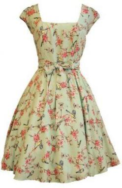 wish I would have learned how to sew when grandma was trying to teach me, almost can't find anything as cute in the stores now: Birdcage Print, Sweet, Style, Clothes, Dream, Dresses, Birdcages, Vintage Dress, Swing Dress
