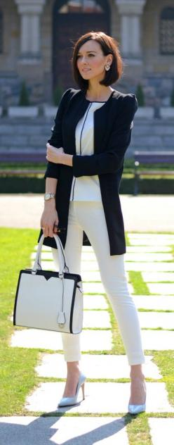 Black White spring look by DaisyLine find more women fashion on misspool.com