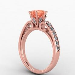 14K Rose Gold and Morganite EternityCollection